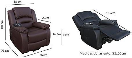 Deluxe - Sillón Relax Masaje Maximum - Reclinable Calor ...