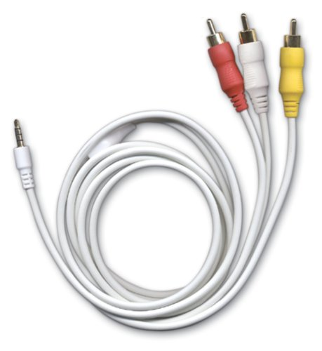 - ezGear EZ109V ezGold AV Cable for Microsoft Zune (White)