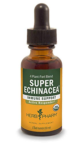 Herb Pharm Certified Organic Super Echinacea Extract for Active Immune...