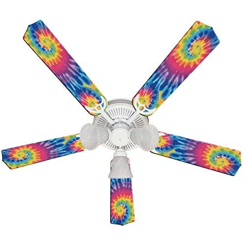 Ceiling Fan Designers Ceiling Fan, Psychedelic Tye Dye Funky Tie, 52