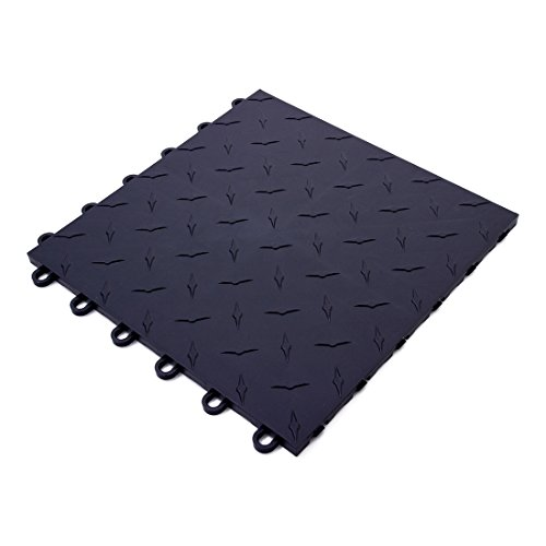 Speedway Garage Tile 789453B Black Garage Floor Tile