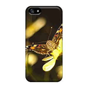New Fashionable KayGY ZBi2576ELyY Cover Case Specially Made For Iphone 5/5s(butterfly On Flower Wallpaper1)