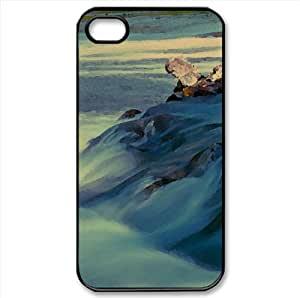 Flowing Water Watercolor style Cover iPhone 4 and 4S Case (Rivers Watercolor style Cover iPhone 4 and 4S Case)