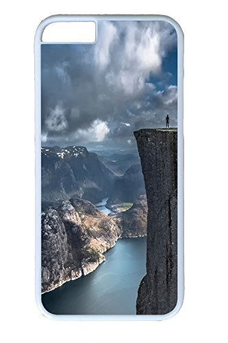 ALWAYS WILL Iphone 6 Case, New Year Gifts Preikestolen Norway pulpit rock cliff Design PC White Case for Iphone6 4.7inch