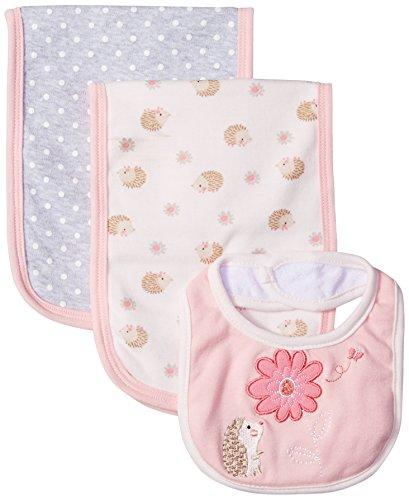 Rene Rofe Baby Kids Little Newborn 3 Pack Burp Cloths and Bib Set