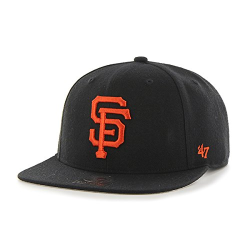 MLB San Francisco Giants Sure Shot Captain Wool Adjustable Hat, One Size, Black