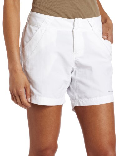 (Columbia Women's Coral Point II Short, UV Sun Protection, Moisture Wicking Fabric, White, Large x 6