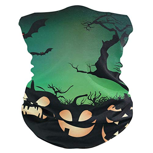 Halloween Pumpkin Little Lion Balaclava Headband Scarf Mens BandanaMufflerNeck GaiterMagicHatliner Headwear