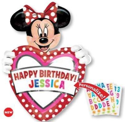 MINNIE balloon PERSONALIZE BIRTHDAY Disney product image