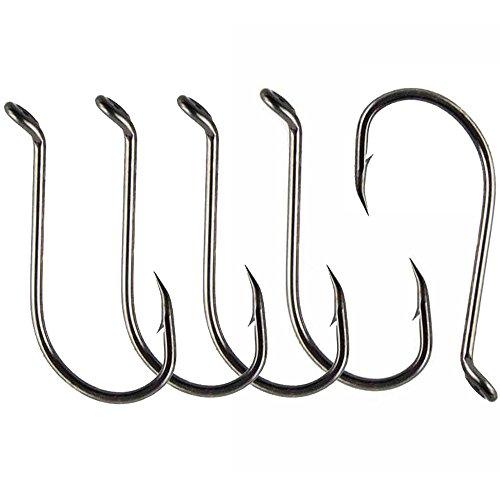 Luengo 100pc 8299 4/0 Octopus Fishing Hook High-carbon Steel Black fishhook Saltwater Bass (4 Octopus Hook)