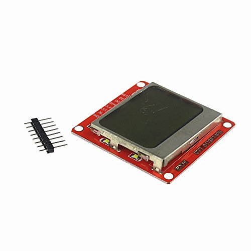 - QX Electronics 10pcs/lot White Backlight 8448 84x84 LCD Display Module Adapter PCB for Nokia 5110 for Arduino