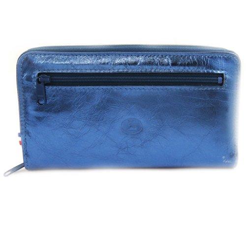Cuoio companion zippato 'Frandi'electra blu.