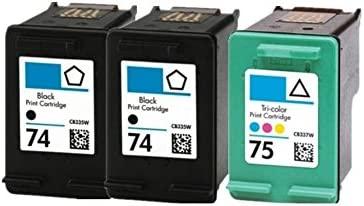 caidi 3pk compatible HP 74 X L 75 x l Cartuchos de Tinta ...
