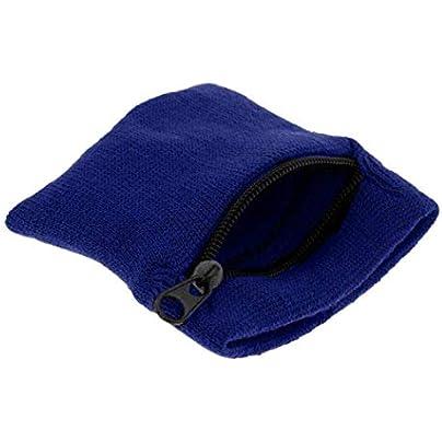 Arteki Zipper Wrist Wallet Pouch Running Sports Arm Band Bag for MP3 Key Card Storage Bag Case Badminton Basketball Wristband Sweatband Royal Blue Estimated Price £5.97 -