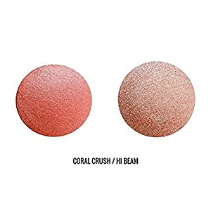Beauty For Real Blush Plus Glo Cream Blush and Luminizer Illuminating Highlighter, Coral Crush and Hi Beam