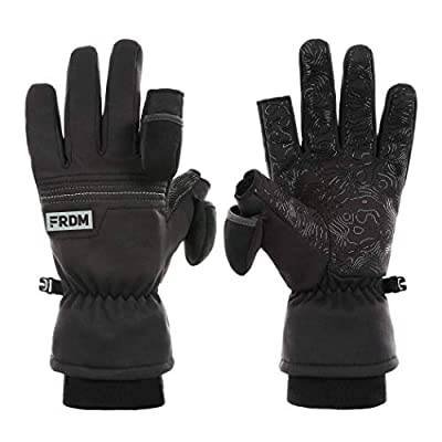 FRDM Midweight Outdoor Gloves for Men & Women Windproof Water Repellent Thumb & Index Caps Great for Photography Fishing Hiking Skiing Shooting Outdoor Activities