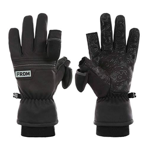 FRDM Cold Weather Gloves - Windproof, Water Resistant Fabric, Thumb & Index Finger Caps, Touchscreen