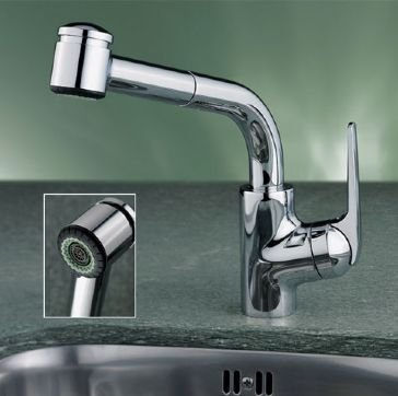 KWC Faucets 10.061.003.000 DOMO Pull Out Kitchen Faucet, 9