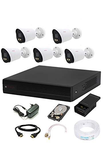 CP PLUS 1080p HD 8 Channel HD DVR, Outdoor Camera 2.4 MP, 1 TB Hard Disk