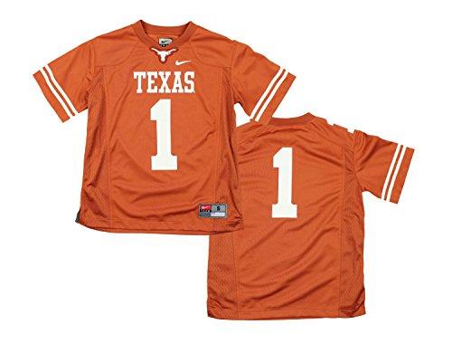 Nike NCAA Big Boys Youth Texas Longhorns #1 Game Replica Football Jersey, Orange
