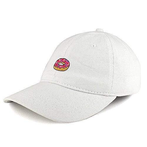 8f82150b3 Trendy Apparel Shop Donut Emoticon Design Embroidered Cotton Unstructured  Dad Hat