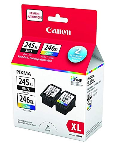 Canon PG245XL Black and CL246XL Color Ink Cartridge Set for PIXMA MG3020 iP2820 MG2420 MG2520 MG2924 TS202 TS3120