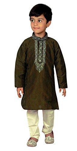 Niños Indios Bollywood Ropa de Moda niños Kurta Pijama Sherwani Pijama 919 (2 años,