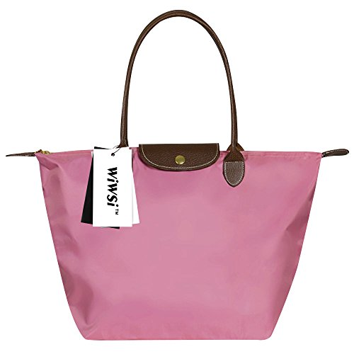 Pink Fashion Durable Hand Wiwsi Pink Medium Bag Nylon Tote L Light Messenger Women S Casual Handle M XnxYxpUZ