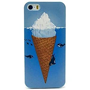 PEACH Whales under Ice Cream Pattern Case for iPhone 5/5S