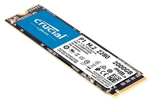 Crucial P1 2TB 3D NAND NVMe PCIe Internal SSD, up to 2000MB/s – CT2000P1SSD8