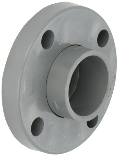 """GF Piping Systems CPVC Pipe Fitting, Van-Stone Flange, Schedule 80, Gray, 1-1/2"""" Slip Socket"""