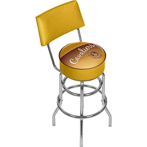 NBA Cleveland Cavaliers Hardwood Classics Bar Stool with Back, One Size, (Cleveland Cavaliers Nba Bar Stool)