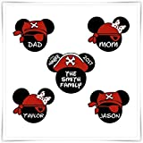 Personalized Disney Inspired Pirates Magnets. Disney Cruise Stateroom Door Magnets.