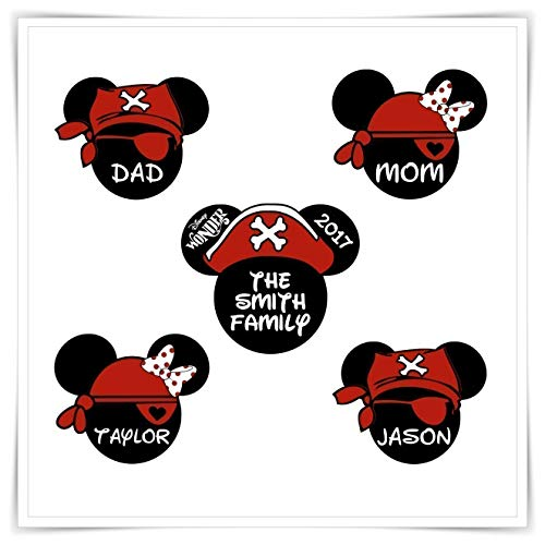 Personalized Disney Inspired Pirates Magnets. Disney Cruise Stateroom Door Magnets. -