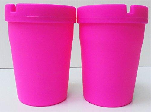 Pink Small Ashtray - 2-Pink Cigarette Ashtray, ASH1E-2P