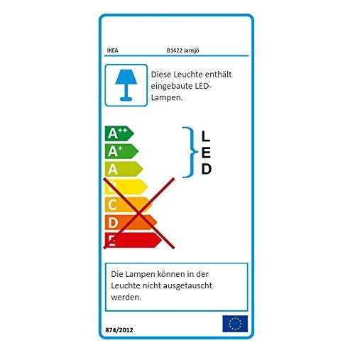 Black IKEA Jansj/ö Energy Saving Lamp LED Table Lamp with Warm Light