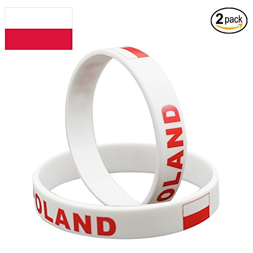 Nasizon Football Bracelets For World Cup 2018 Soccer Silicone World Cup National Flag Bracelets Unisex Rubber Band Fashion Wristbands (2 pack) ()