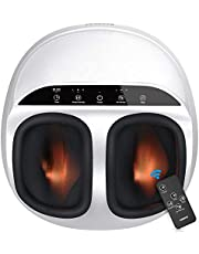 Renpho Foot Massager Machine with Heat and Remote, Shiatsu Deep Kneading, Multi-Level Settings, Delivers Relief for Tired Muscles and Plantar Fasciitis, Fits feet up to Men Size 12