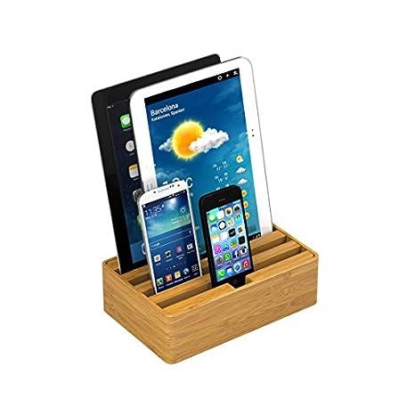 ALL DOCK 0465 Tableta/Smartphone Madera estación Dock para móvil ...