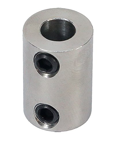 1/4 inch to 8mm Stainless Steel Set Screw Shaft Coupler ServoCity 625182
