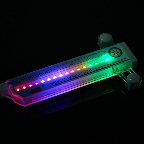 LED Wheel Signal Light Waterproof Colorful Bicycle Bike Cycling Wheel Spoke Light for Night Riding 32 LED 32 pattern Waterproof