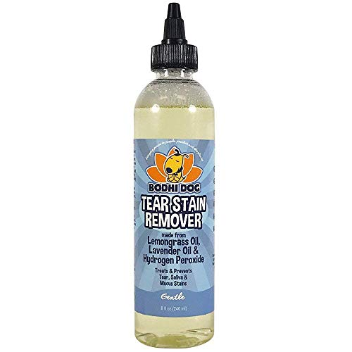 New Natural Tear Eye Stain Remover | Remove Stains and Clean Residue for Dogs and Cats | Safe Gentle Cleaner Solution for Fur and Delicate Coats | Made in USA - 1 Bottle 8oz (240ml) (Best Tear Stain Remover)