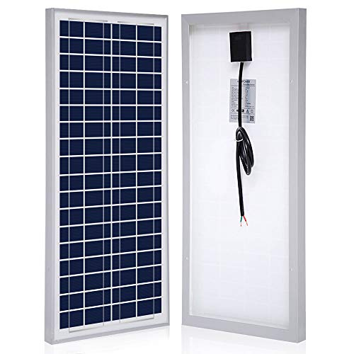 ACOPOWER 35 Watt 35w Polycrystalline Photovoltaic PV Solar Panel Module With MC4, for 12 Volt Battery Charging