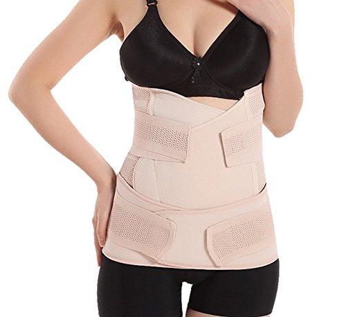 EUBUY Women's Breathable Elastic 2 in 1 Postpartum Postnatal Pregnancy Support Abdomen Hip Waist Belly Slimming Shaper Wrapper Band Binder Belt