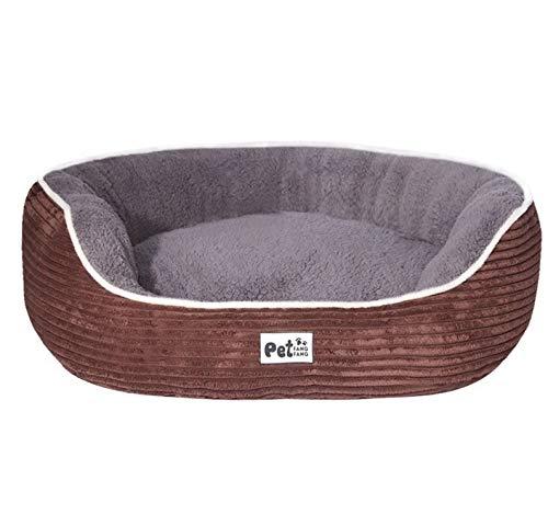 L GaoMiTA Pet Supplies Striped Corduroy Kennel Cat nest Autumn and Winter Suit pet nest (Size   L)