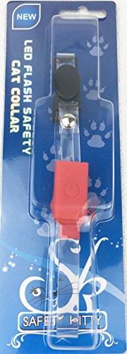 Safety Kitty(R) LED Katzenhalsband rot leuchtend - reflektierend - Sicherheitsverschluss - Sicherheit durch Sichtbarkeit - Lebenslange Garantie