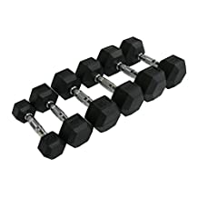 CFF Rubber Hex Dumbbell - Single Dumbbell