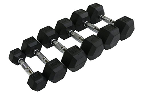 CFF Rubber Hex Dumbbell- 110lbs - (Single Dumbbell)