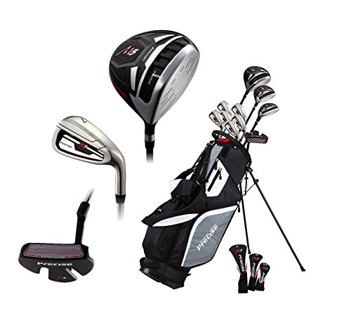 "Top Line Men's  Right Handed M5 Golf Club Set for Tall Men ( Height 6'1"" - 6'4""),  Includes Driver, Wood, Hybrid, 5, 6, 7, 8, 9, PW Stainless Irons with True Temper Shafts, Putter, Stand Bag & 3 HCs"