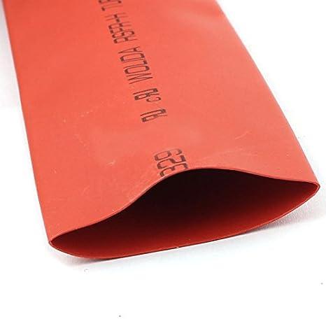 DealMux a15091000ux0960 fio Enrole Termoencolhíveis Encolher Tubo Manga, 3, diâmetro 30 mm, Red: Amazon.com: Industrial & Scientific